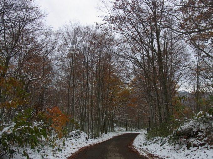 雪と紅葉の乳頭温泉郷