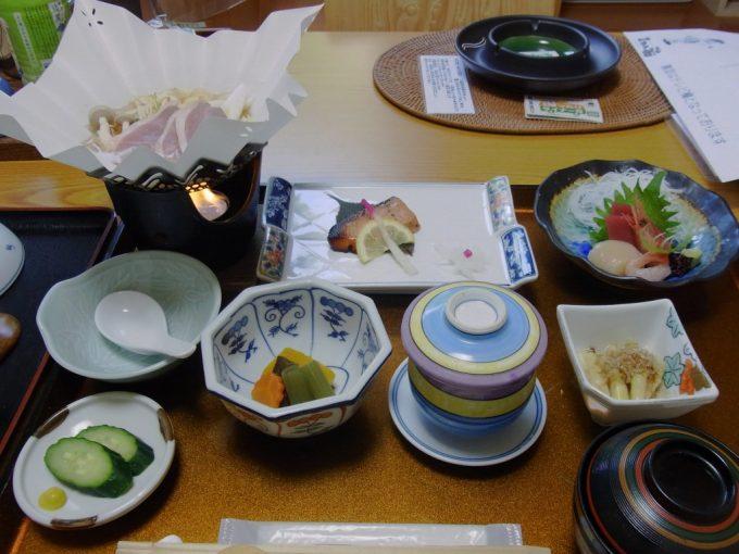 札幌小金湯温泉まつの湯夕食
