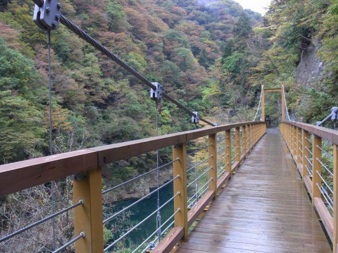抱返り渓谷遊歩道の吊橋