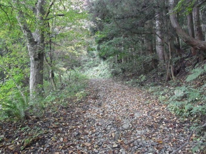 秘湯不動湯温泉への未舗装の道
