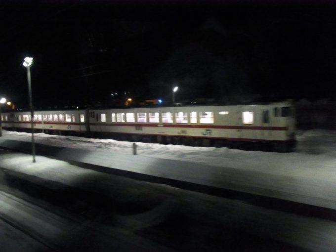 寝台特急北斗星は青函トンネルを抜け本州蟹田駅へ