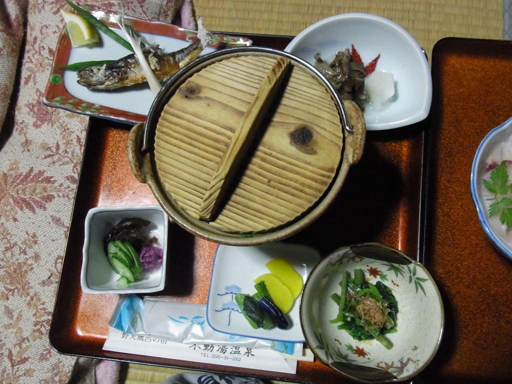 在りし日の不動湯温泉夕食1