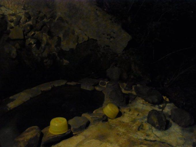 不動湯温泉夜の露天風呂