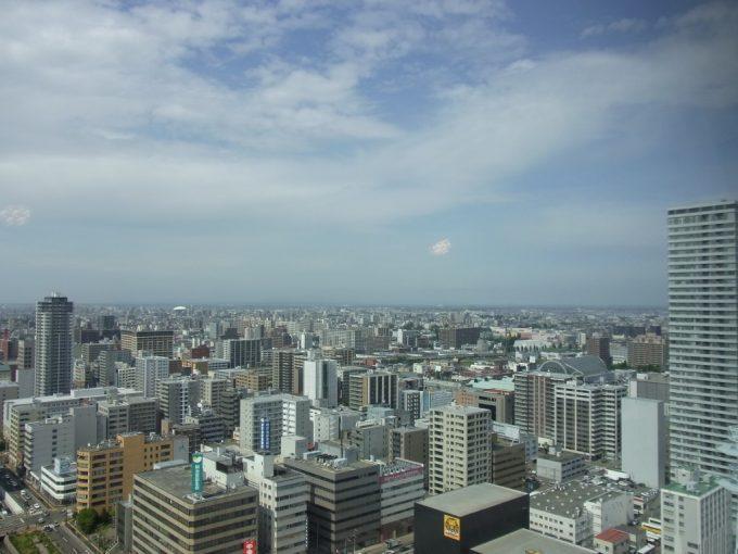 札幌テレビ塔から眺める初夏の石狩平野