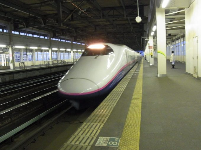 一ノ関駅E2系はやて号入線