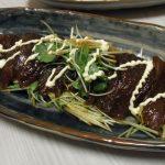 漬けまぐろとたっぷり三つ葉のサラダ風・里芋と肉団子のころころ甘辛煮