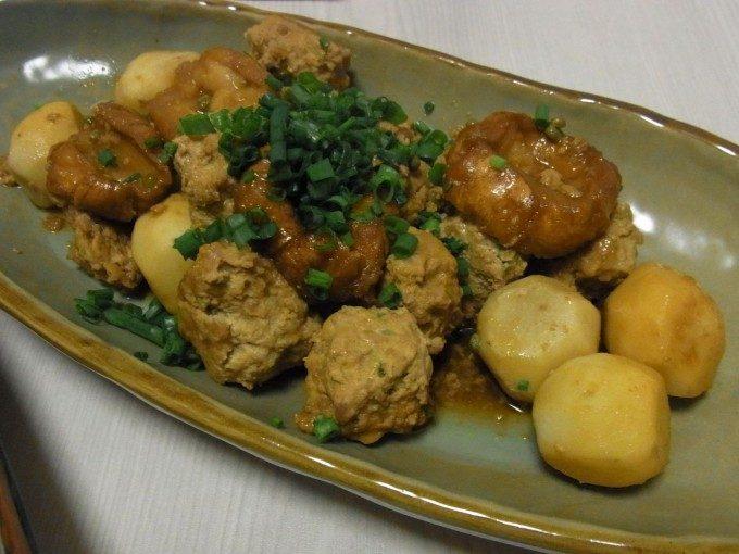 里芋と肉団子のころころ甘辛煮