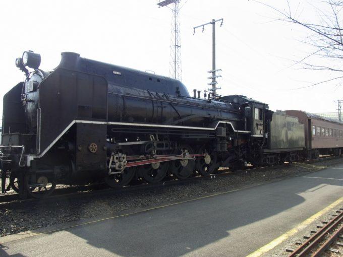 梅小路蒸気機関車館D51旧型客車を連結したデゴイチ