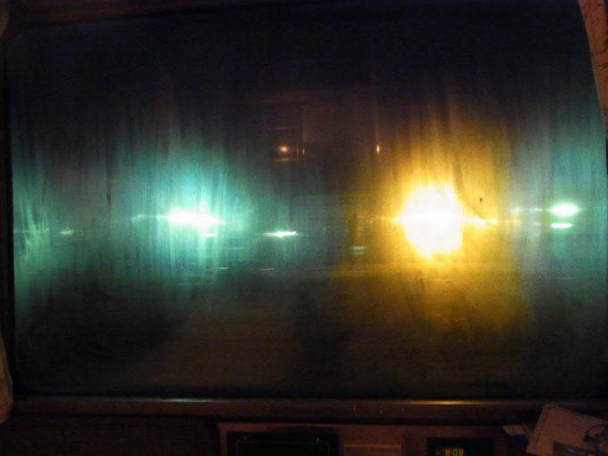 寝台特急北斗星ロイヤルシャワーを浴び曇る窓ガラス