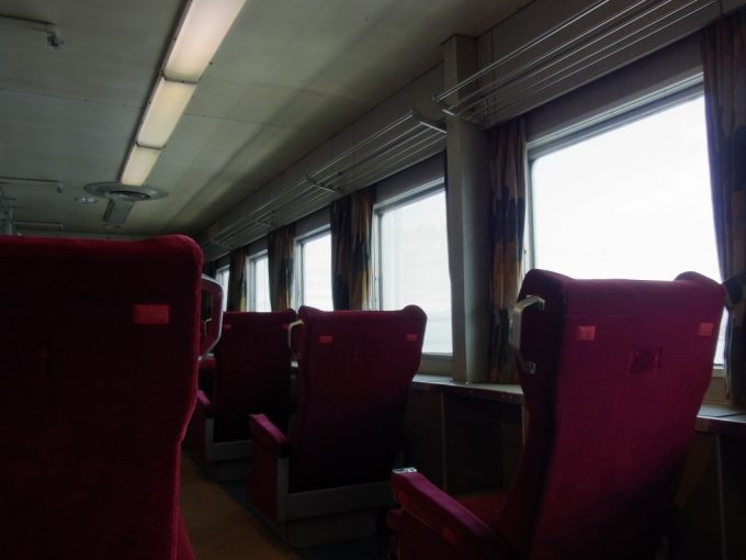 青森メモリアルシップ八甲田丸現役当時の姿を残すグリーン指定席