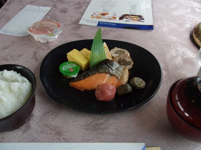北斗星食堂車グランシャリオ和朝食