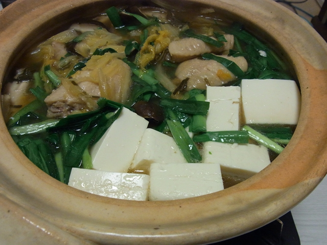 手羽中と白菜のとろとろ塩昆布鍋