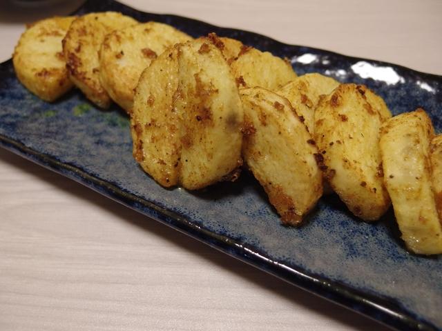 長芋のにんにくカレーバター焼き