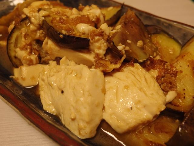賀茂なすと豆腐の梅しょうが焼き