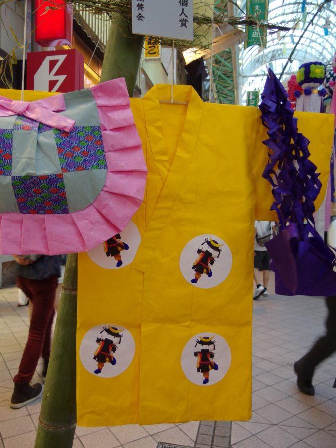 仙台七夕まつり可愛いむすび丸の紙衣