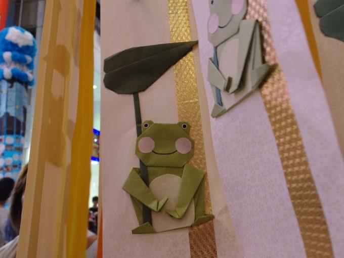 仙台七夕まつりカエルの折り紙が可愛い吹き流し