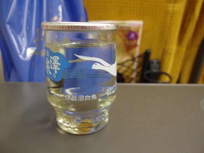 こまち車内で澤乃泉ワンカップ