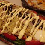 ゆかり風味のラーメンサラダ・万願寺唐辛子とちくわの味噌煮