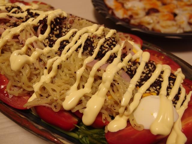 ゆかり風味のラーメンサラダ