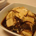 豆腐のがごめとろろ漬け・たっぷりきのこと油麩の煮物