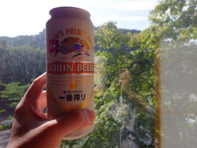雫石玄武温泉ロッヂたちばな湯上がりに冷たいビール