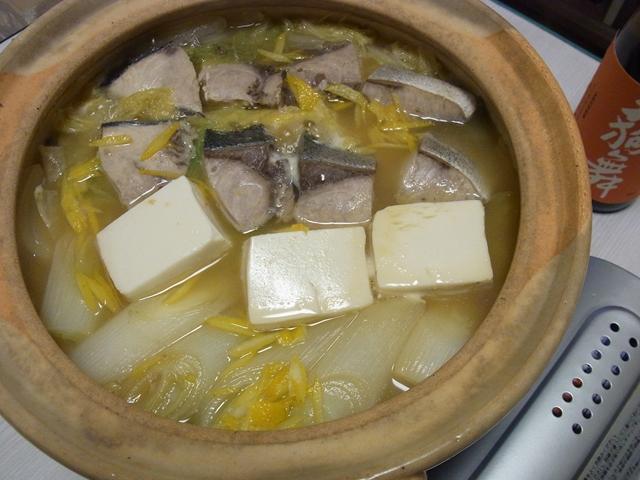 ぶりのゆず味噌鍋