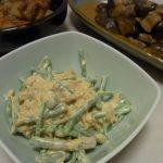 赤ミズの味噌マヨツナサラダ・牛となすの坦々炒め