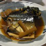 鯖と葉玉ねぎの煮付け・こごみとささみの地海苔ナムル・手羽中のアヒージョ