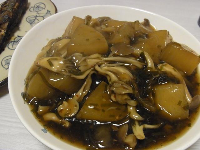 きのこと大根の塩昆布煮ゆず胡椒風味