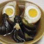 竜眼と小なすの煮物・地海苔風味のネオきのこおろし