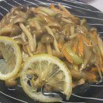 中華風レモンチキン・小なすと春雨のツナオイスター煮込み