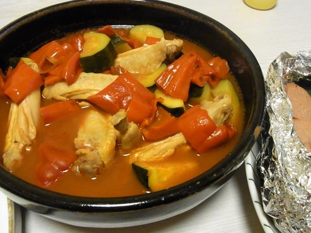 手羽中と夏野菜の和だしトマト煮
