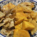 安納芋とちくわぶの直鰹煮・北寄貝と加賀れんこんのゆず胡椒サラダ