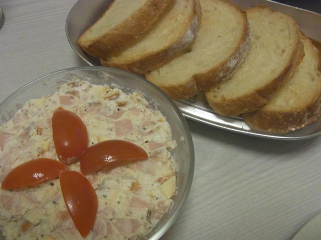 クリームチーズとパストラミのパテ