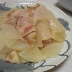 大根とベーコンの無水ひと塩煮・せせりと菜の花のにんにく炒め・豆腐とエリンギの塩昆布ホイル焼き