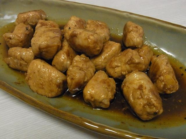 長芋豚ボールの甘辛七味焼き