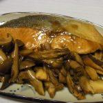 秋鮭ときのこの照り焼き風・豆もやしと鶏皮のさっぱりナムル・空芯菜とさつま揚げの塩昆布炒め