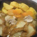 安納芋と油麩の煮物・キャベツとこんにゃくのおかかきんぴら