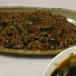 麻婆ゴーヤー・ちくわともやしのピリ辛炒め煮