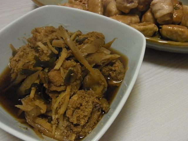 生たらことごぼうの生姜煮