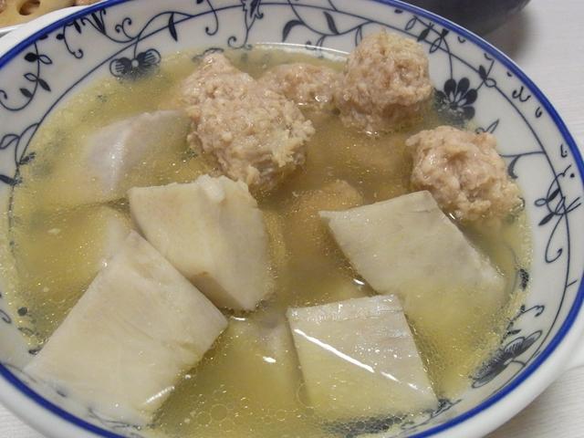 だしいらず!海老芋とおかか鶏だんごの煮物