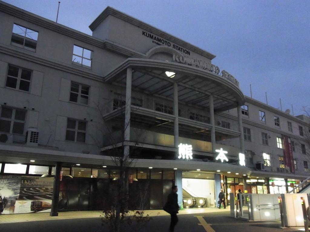 夕暮れの熊本駅