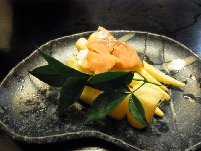 弘前けん太居酒屋姫竹と鮭の押し寿司