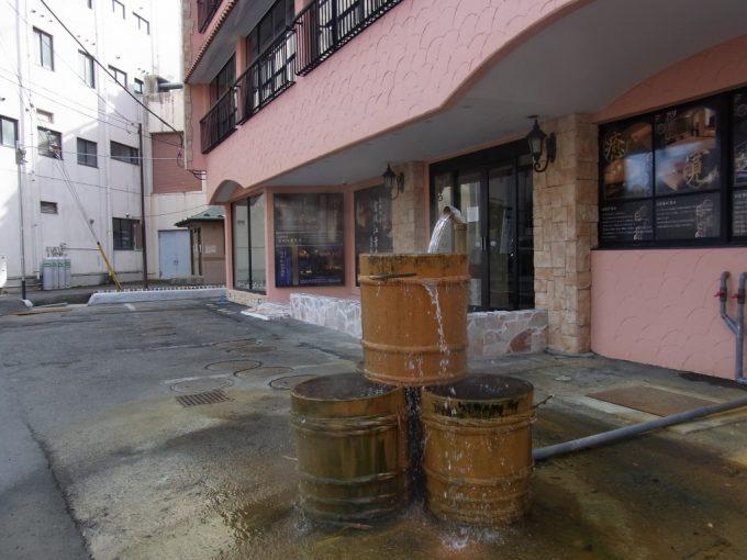流される塩原の温泉