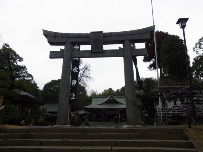 熊本水前寺公園出水神社鳥居