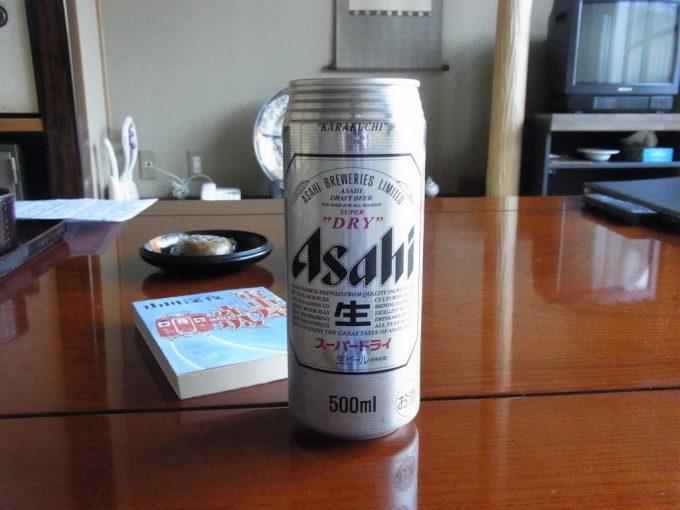 塩原温泉明賀屋本館湯上がりに冷たいビール