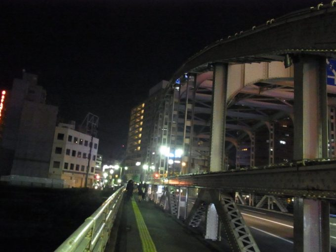 夜の盛岡開運橋
