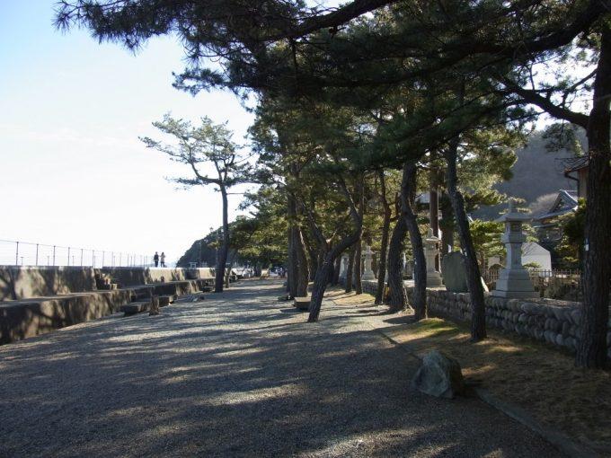二見浦夫婦岩表参道海沿いの松並木