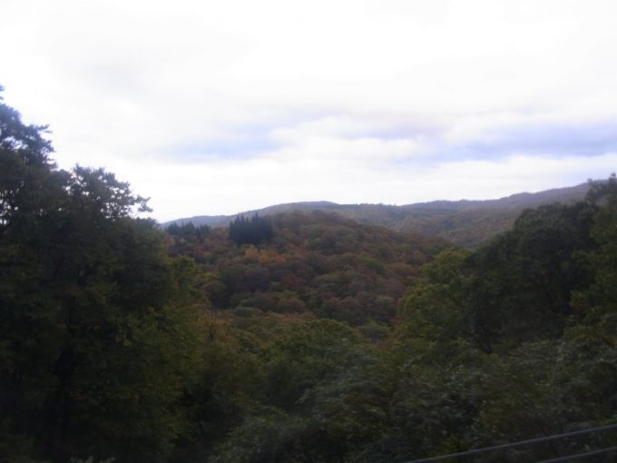 紅葉に彩られる岩手の山