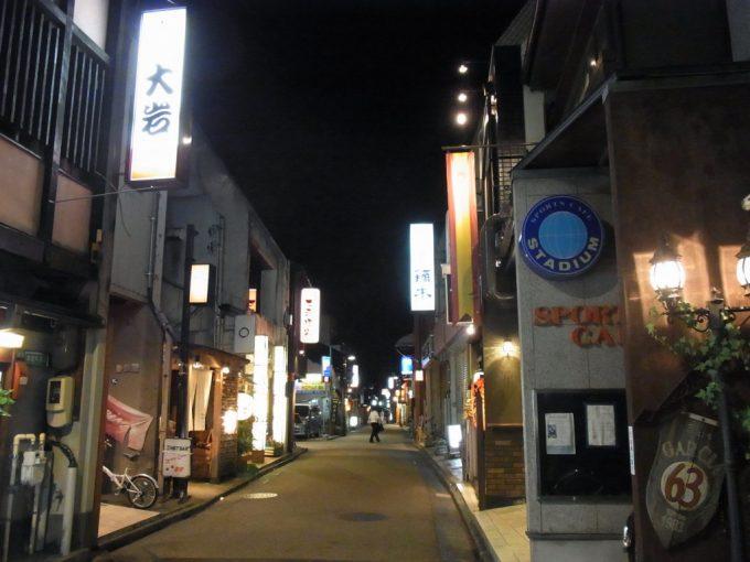 夜の金沢片町